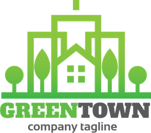 Green town Logo Vector