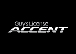 Guys License Accent Logo Vector