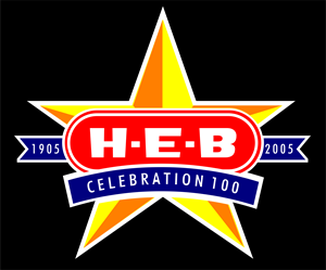 HEB 100 Year Logo Vector