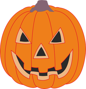 Haloween Pumpkin Logo Vector