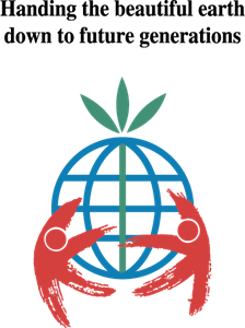 Handing the beautiful earth Logo Vector