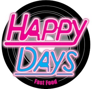 Happy Days Fast Food Logo Vector
