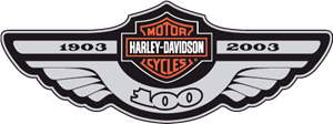 Harley Davidson 100th Logo Vector