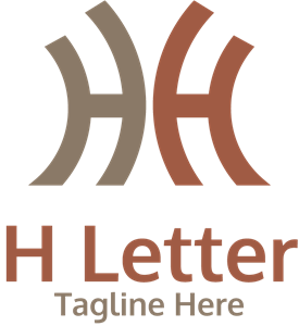 H Letter Company Logo Vector