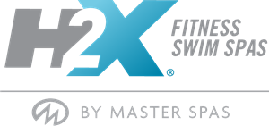 H2X Swim Spas By Master Spas Logo Vector