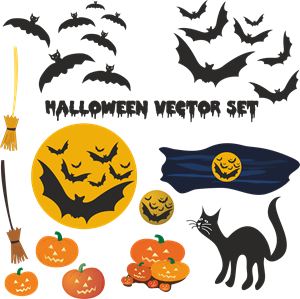 halloween elements set Logo Vector