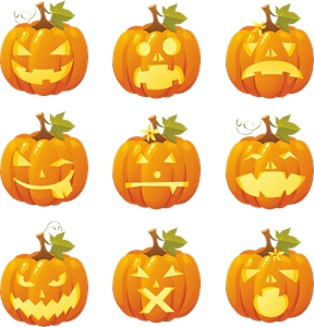 halloween pumpkin smileys Logo Vector
