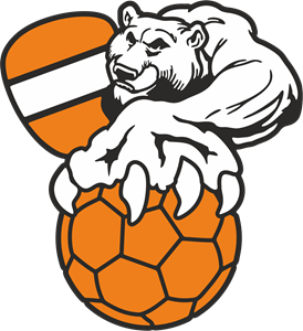 Handball Bear Logo Vector