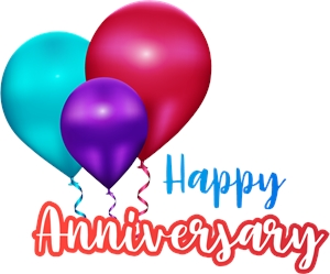 Happy anniversary Logo Vector