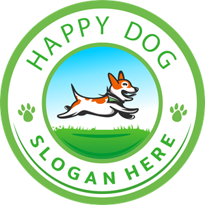 happy dog design Logo Vector