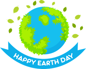 Happy Earth Day Logo Vector