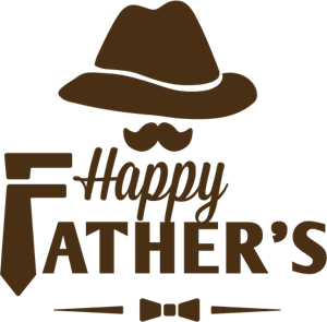 Happy Father's Day Logo Vector