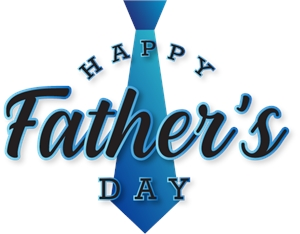 Happy fathers day Logo Vector