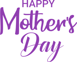 Happy Mother's Day Logo Vector
