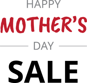 Happy Mother's Day Sale Logo Vector