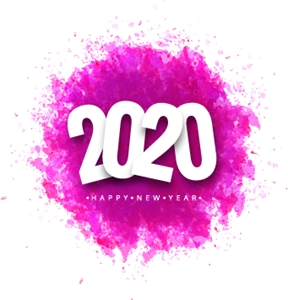 Happy New Year 2020 Logo Vector