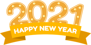 Happy New Year 2021 Logo Vector