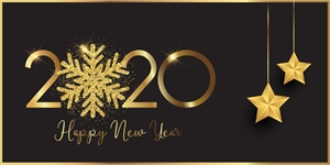 Happy New Year banner Logo Vector