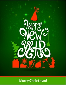 happy new year Logo Vector