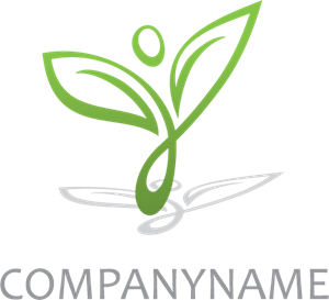 Happy Plant Logo Vector