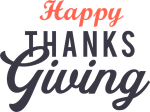 Happy Thanks Giving Logo Vector