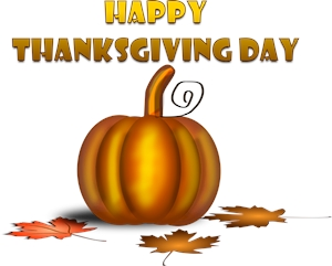 happy thanksgiving day Logo Vector