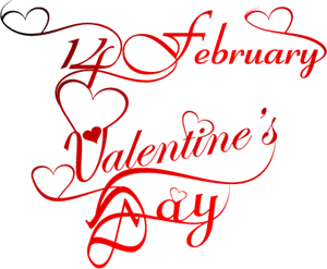 Happy Valentine's Day Logo Vector