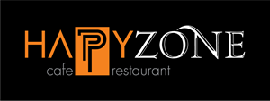 Happy Zone Cafe Restaurant Logo Vector