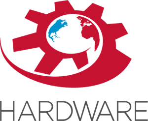 Hardware Gear World Logo Vector