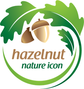 Hazelnut Nature Logo Vector
