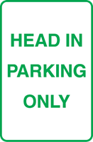 Head in parking only Logo Vector