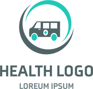 Health with an ambulance Logo Vector