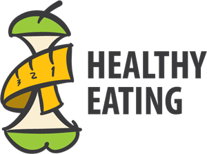 Healthy Eating Apple Logo Vector