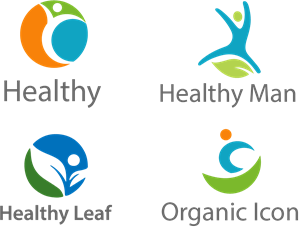 healthy leaf Logo Vector