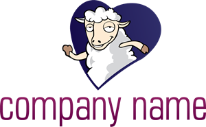 Heart Sheep Company Logo Vector