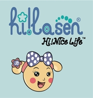 Hi La Sen- Hi Nice Life-with Miss La Sen head Logo Vector