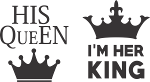 His Queen & Im her king Logo Vector