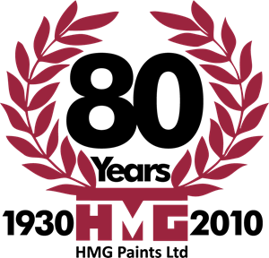HMG Paints 80th Anniversary Logo Vector