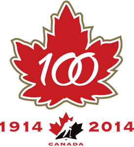Hockey Canada's 100th Anniversary Logo Vector
