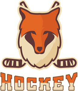 Hockey with a fox Logo Vector