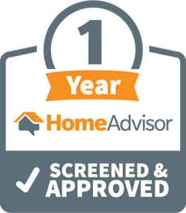 HomeAdvisor 1 Year Screened and Approved Logo Vector