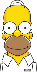 Homero Simpsons front Logo Vector