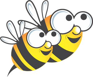 Honey Bee Logo Vector