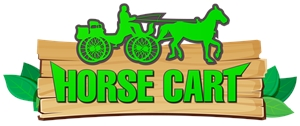 Horse cart Logo Vector