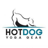 Hotdog Yoga Gear Logo Vector