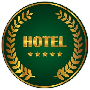 Hotel badge Logo Vector