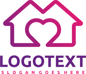 House and love Logo Vector