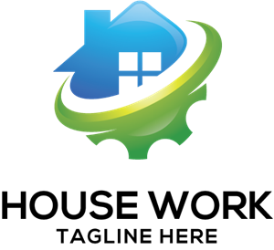 House Work Logo Vector