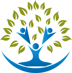 Human Life Tree Logo Vector