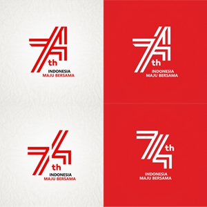 HUT RI 74 INDONESIA MAJU BERSAMA Logo Vector
